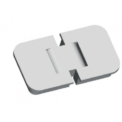 EXTERNAL EMBEDDED HINGE 65X37X11 180° OPENING