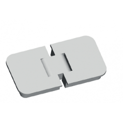 EXTERNAL EMBEDDED HINGE 80X42X11 180° OPENING
